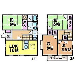 [一戸建] 愛媛県松山市市坪北1丁目 の賃貸【/】の間取り