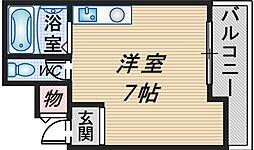 ラミーゴ中桜塚[402号室]の間取り