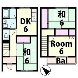 滋賀県甲賀市水口町中邸の賃貸アパートの間取り
