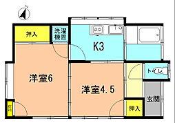 [一戸建] 神奈川県平塚市御殿3丁目 の賃貸【/】の間取り
