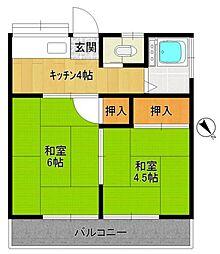 第二太田荘[205号室]の間取り