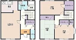 [テラスハウス] 大阪府八尾市山本町4丁目 の賃貸【/】の間取り
