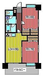 タケノヤハイツ錦町[5階]の間取り
