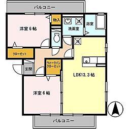 グランドアトリオ神戸西A棟[3階]の間取り