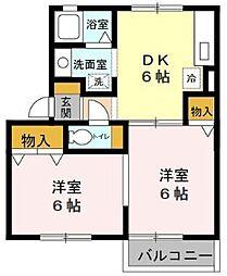 アベニューコート[2階]の間取り