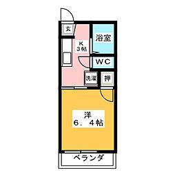 タウニー内田B[2階]の間取り