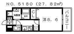 カンフォーラ松崎[2階]の間取り