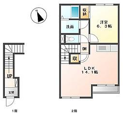コンフォートナナ[2階]の間取り