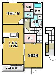ファースト・ハウス[2階]の間取り
