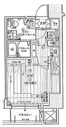 JR大阪環状線 野田駅 徒歩5分の賃貸マンション 10階1Kの間取り