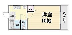 大阪府堺市西区上野芝町4丁の賃貸マンションの間取り