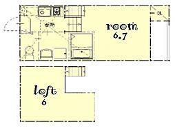デザイナーズコーポ名北[2階]の間取り