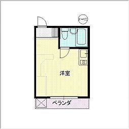 繁楽荘[205号室]の間取り