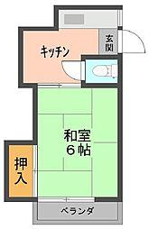 富士荘[213号室]の間取り