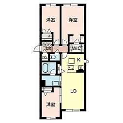 Osaka Metro谷町線 守口駅 徒歩4分の賃貸マンション 3階3LDKの間取り