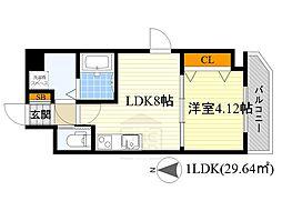 WE大阪緑地公園[5階]の間取り