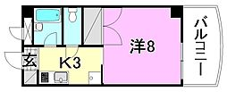 ミナトビル朝生田[202 号室号室]の間取り