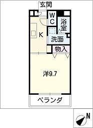 RIVER SIDE II[3階]の間取り