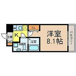 愛知県名古屋市中区上前津2の賃貸マンションの間取り