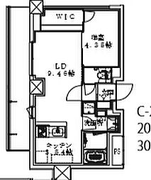 Cour Maison 3階1LDKの間取り