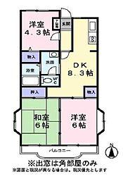 メゾンドソフィア[2階]の間取り
