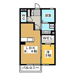 K+M[2階]の間取り