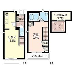 柴崎テラスハウスIII[1階]の間取り