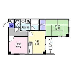 万代東マンション[4階]の間取り