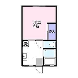コスモハイツ田中E[2階]の間取り