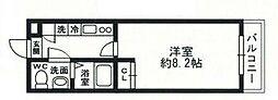 Chez-soi(シェソワ)[3階]の間取り