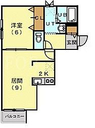 アヴェニューロンドール[4階]の間取り