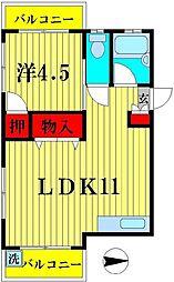 東京都足立区東和2丁目の賃貸マンションの間取り