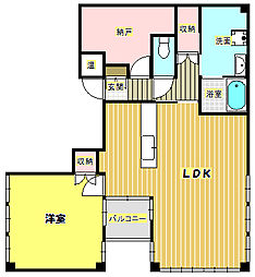 ツインミューク小野原東[4階]の間取り