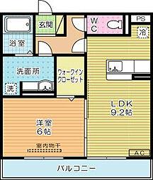 エスポワール祇園A[2階]の間取り