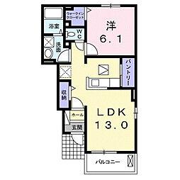 東8丁目アパート[1階]の間取り