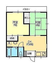 栄進ハイツ[2階]の間取り