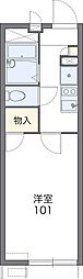 大阪モノレール 大日駅 徒歩12分の賃貸アパート 2階1Kの間取り