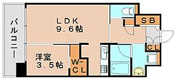 アルファシオディクレーヴ[13階]の間取り