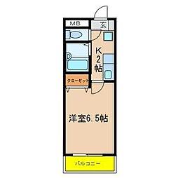 YKマンション[602号室]の間取り