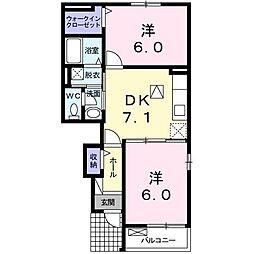 プリムローズ桜[102 号室号室]の間取り
