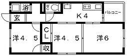 藤野コーポ[202号室号室]の間取り