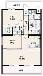 兵庫県姫路市新在家1丁目の賃貸マンションの間取り