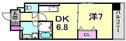 カーロ・アロッジオ 1階1DKの間取り