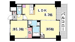エステムプラザ神戸西4インフィニティ[6階]の間取り