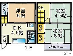 新中里2丁目貸家[101号室]の間取り