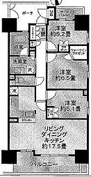 シャリエ日本橋高津[6階]の間取り