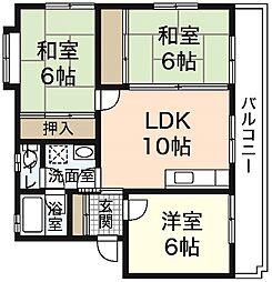 二反田ビル[2階]の間取り
