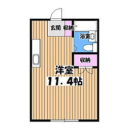 山川ビル[2階]の間取り