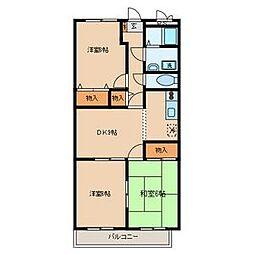 シモーヌヴィーユA棟[1階]の間取り