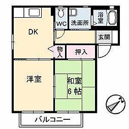 広島県福山市曙町4丁目の賃貸アパートの間取り